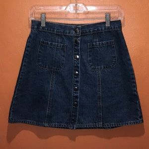 Women's BDG Snap Button Denim Skirt